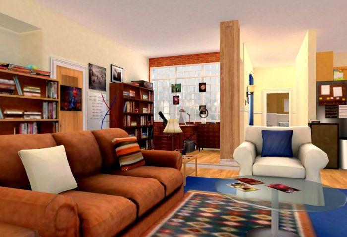 Appartamento di Sheldon e Leonard in 3D (Archilogic)