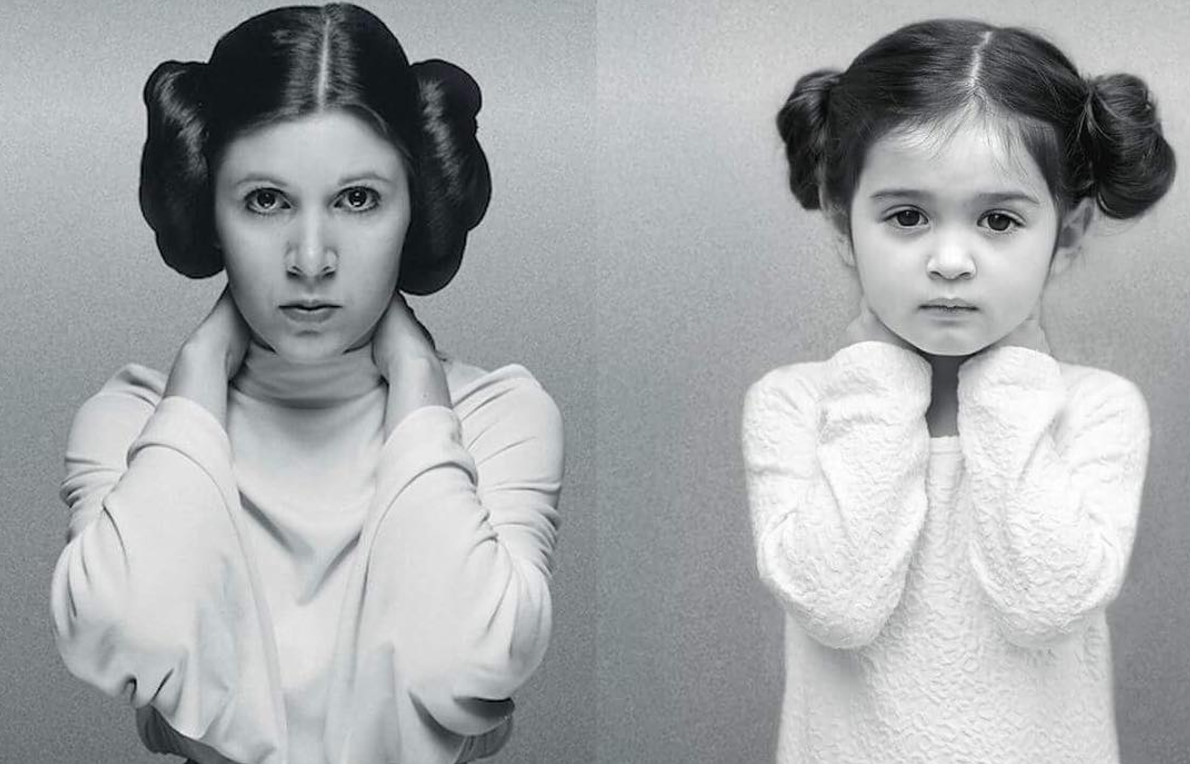 Carrie Fisher/Scout Larson (hello.scout/Instagram)