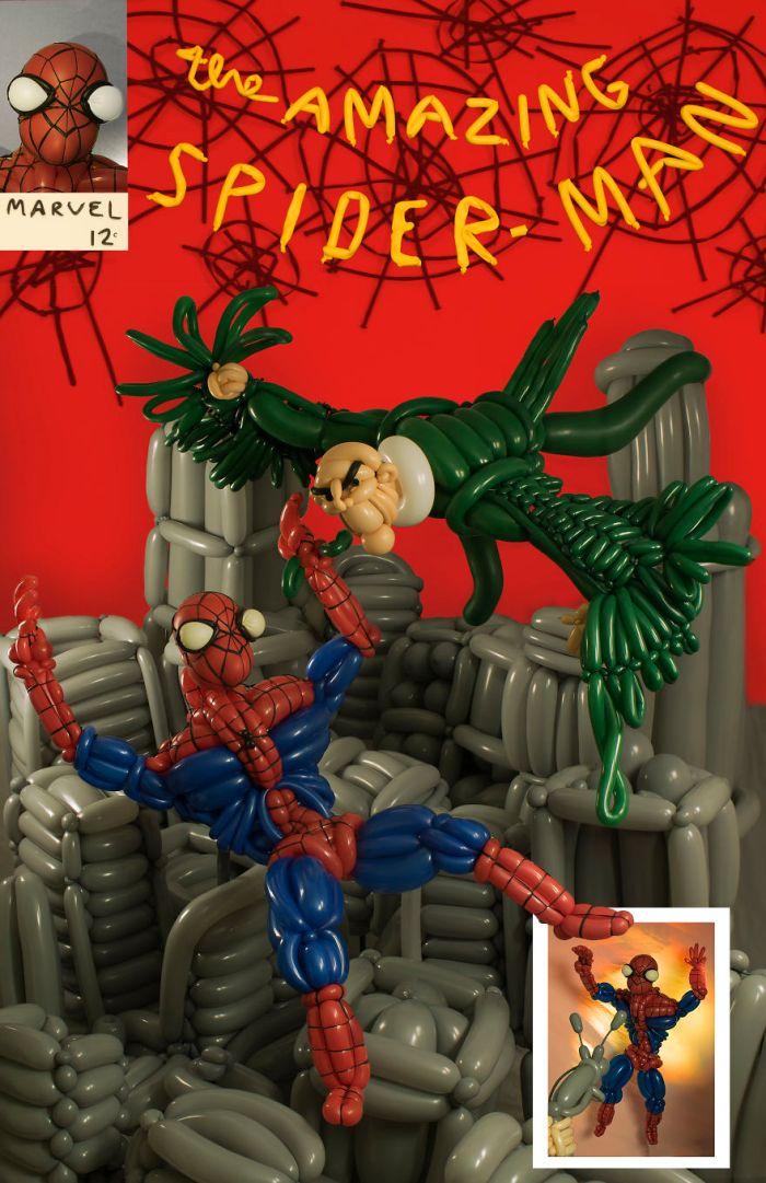 La versione di Phileas Flash della cover di Amazing Spider Man Vol.1 #2 (Balloon Heroes)