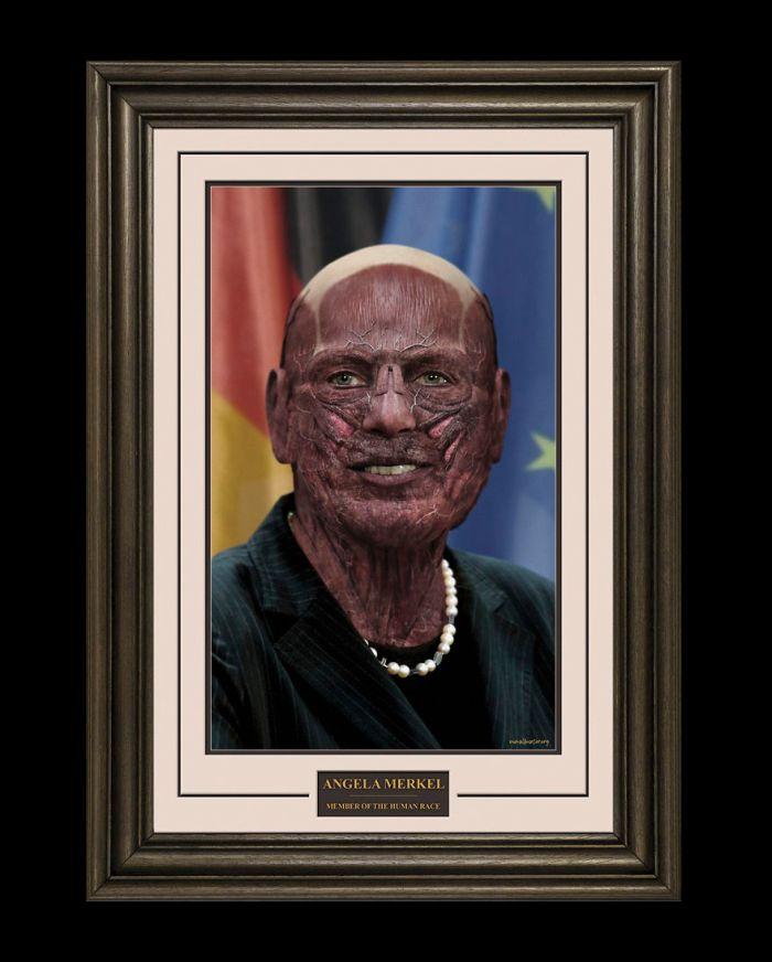 Angela Merkel/One Millimeter (Alex Wadelton/Marcus Byrne)