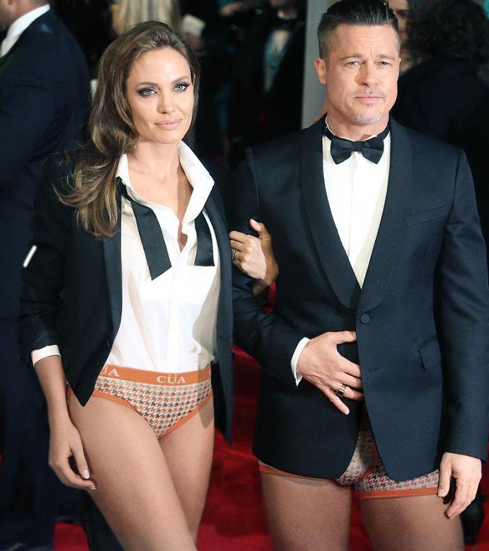 Angelina Jolie e Brad Pitt (designcrowd.com)