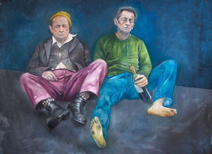 François Hollande e Nicolas Sarkozy (The Vulnerability Series/Abdalla Al Omari)