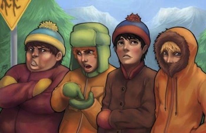I ragazzi di South Park (BoredPanda)