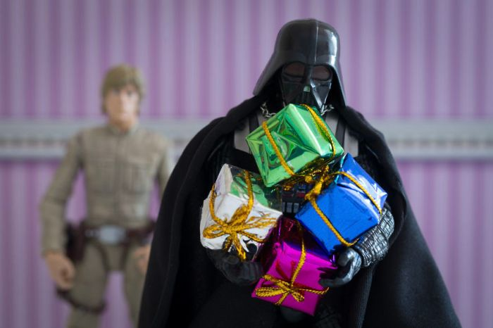 Luke was getting fed up with Darth feeling his present (David Gilliver)