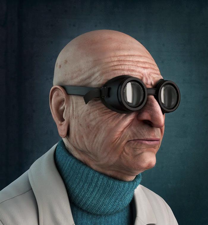 Professore Hubert J.Farnsworth di Futurama (Carlos Lopez)
