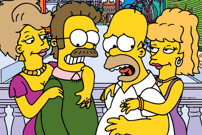 Ned Flanders e Homer Simpson in Viva Ned Flanders (I Simpson/20th Century Fox)