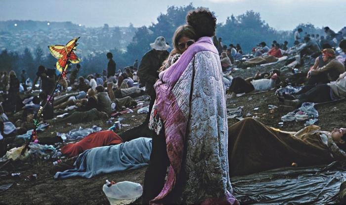 Bobbi e Nick Ercoline a Woodstock (Burk Uzzle)