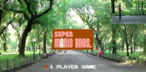 Super Mario Bros a Central Park (Abhishek Singh/HoloLens)