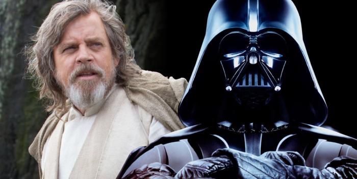 Luke Skywalker e Darth Vader (Lucasfilm)