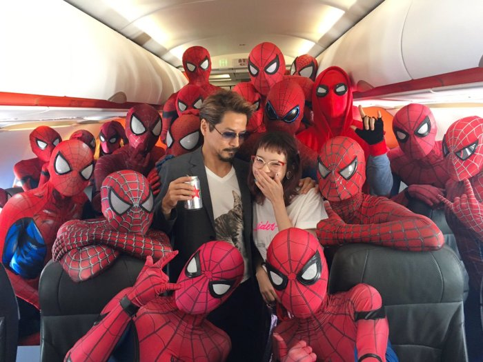 Spider-Man cosplayers (setoayumi/Twitter)