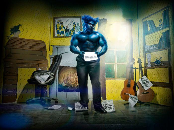 Supereroe sfrattato (Duke Shoman/SUbPAR HEROES)