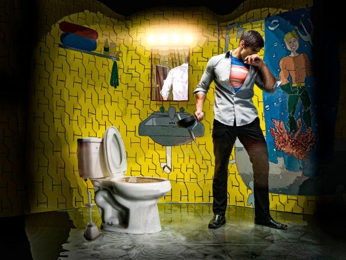 Superman (Duke Shoman/SUbPAR HEROES)