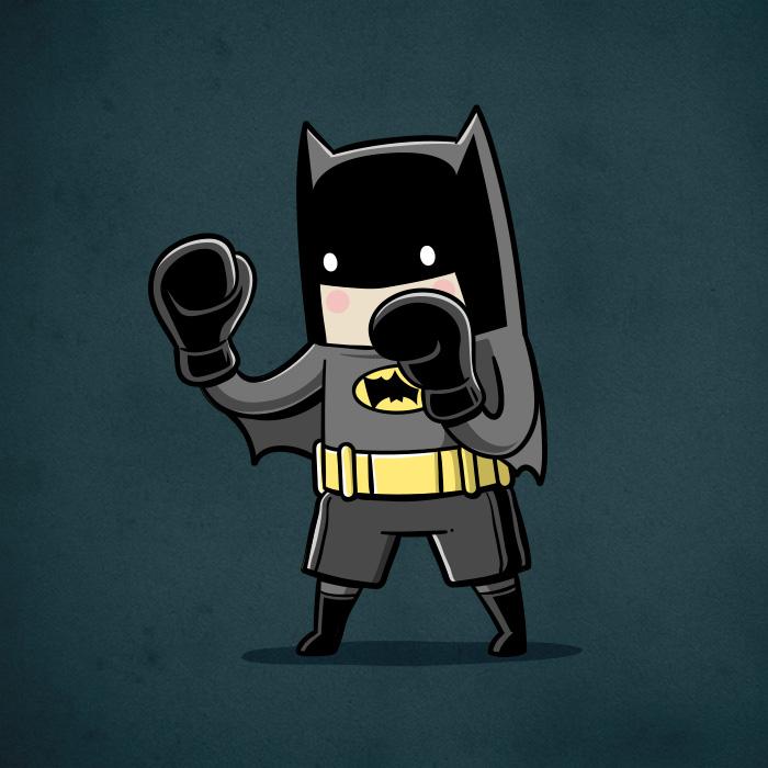 Batman-boxe (Chow Hon Lam/Instagram)