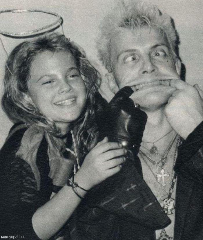 Drew Barrymore e Billy Idol - 1984 (losangelesdream.com)