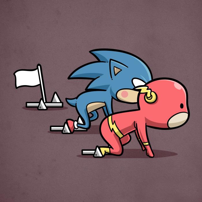 Flash e Sonic-atletica (Chow Hon Lam/Instagram)