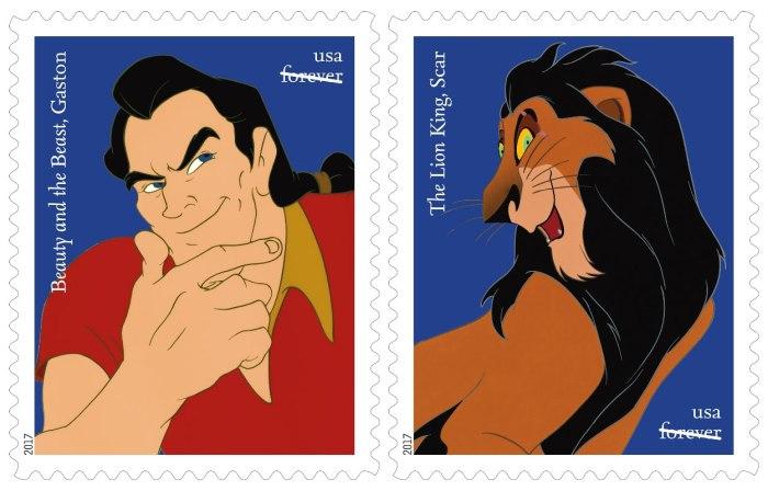 Gaston de La Bella e la Bestia/Scar de Il Re Leone (USPS)