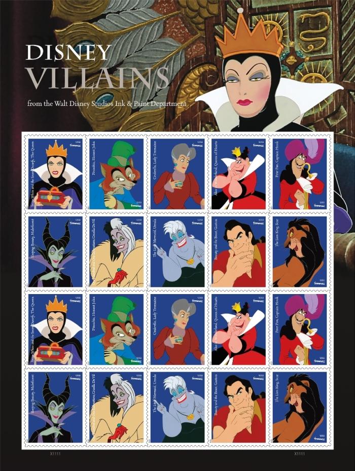 Francobolli Disney Villains (USPS)