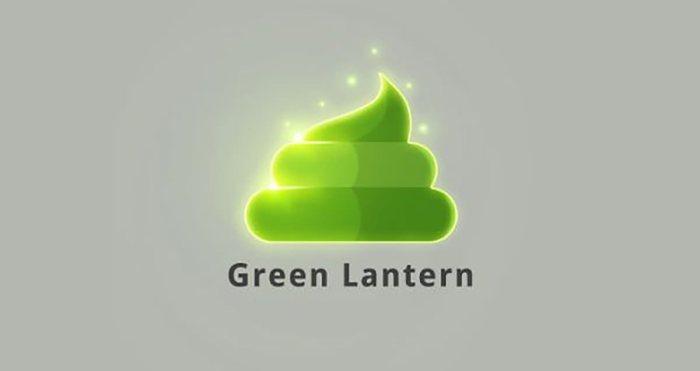 Lanterna Verde (Superheroes Poop Lab/Toshib Bagde)