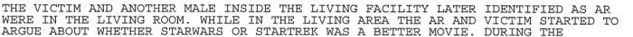 Un estratto del verbale (Oklahoma City Police Department)