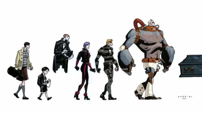 I personaggi del fumetto originale The Umbrella Academy