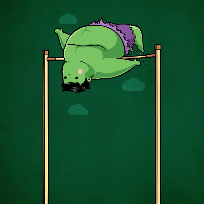 Hulk-salto in alto (Chow Hon Lam/Instagram)