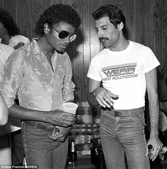 Michael Jackson e Freddie Mercury - 1982 (losangelesdream.com)