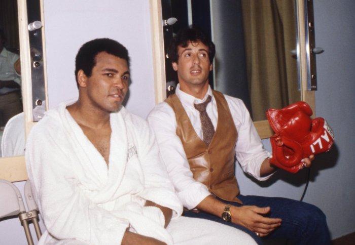 Mohammed Ali e Sylvester Stallone - 1980 (losangelesdream.com)