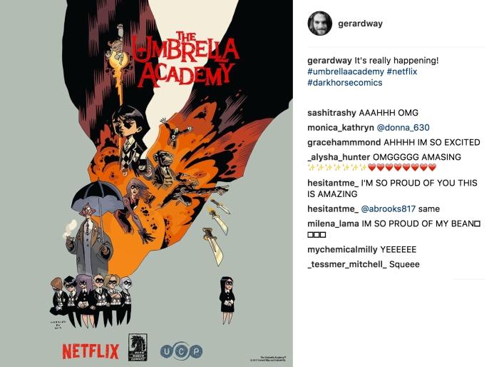 L'annuncio di Gerard Way su Instagram