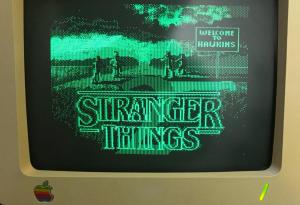 Monitor monocromatico Stranger Things (Wahyu Ichwandardi)