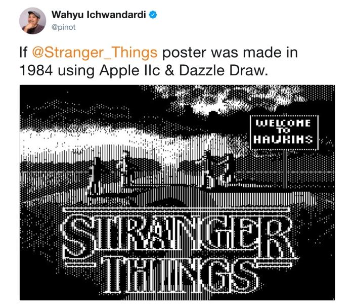 Stranger Things 1984 poster (Wahyu Ichwandardi/Twitter)