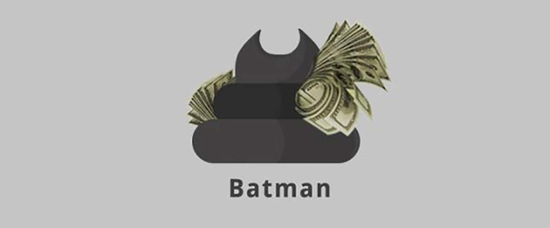 Batman (Superheroes Poop Lab/Toshib Bagde)