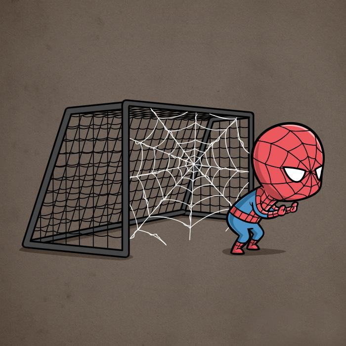 SpiderMan-calcio (Chow Hon Lam/Instagram)