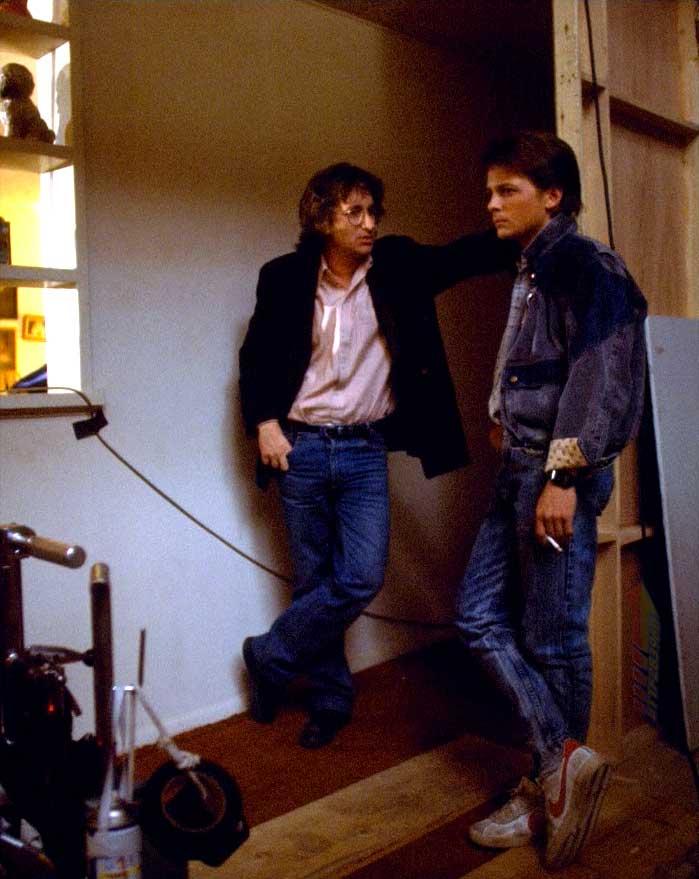 Steven Spielberg e Michael J. Fox - 1985 (losangelesdream.com)
