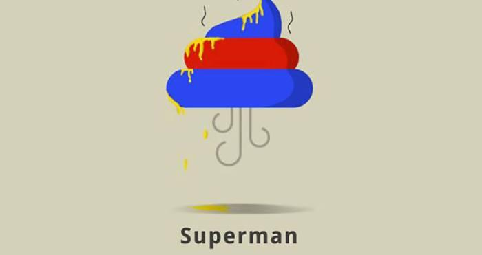 Superman (Superheroes Poop Lab/Toshib Bagde)