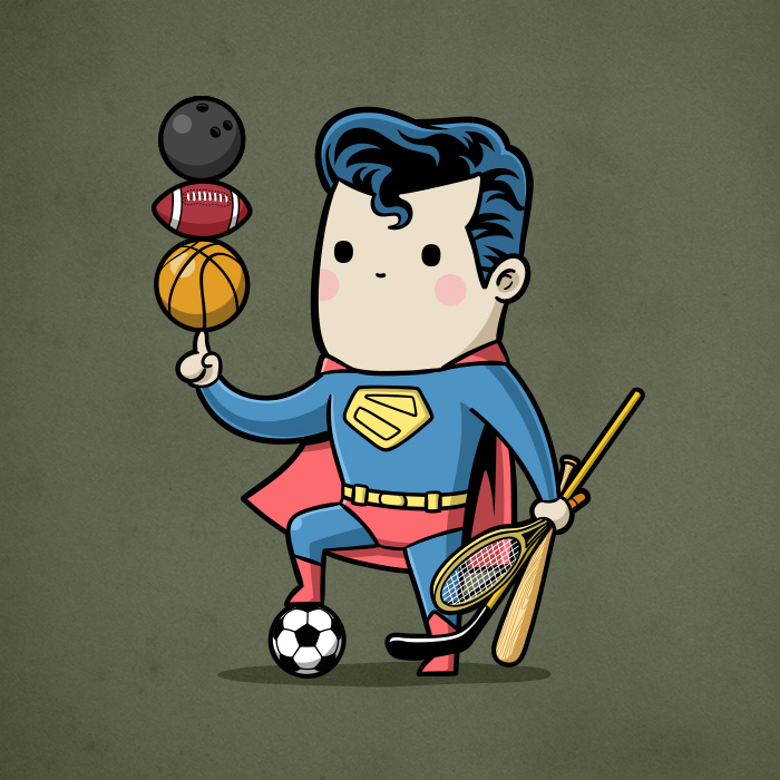 Superman-tutti gli sport (Chow Hon Lam/Instagram)