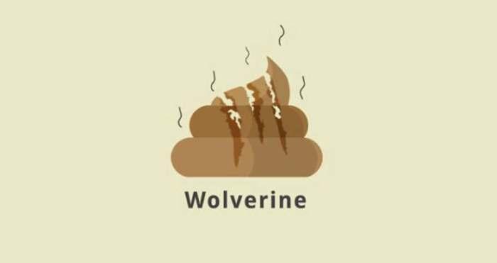 Wolverine (Superheroes Poop Lab/Toshib Bagde)