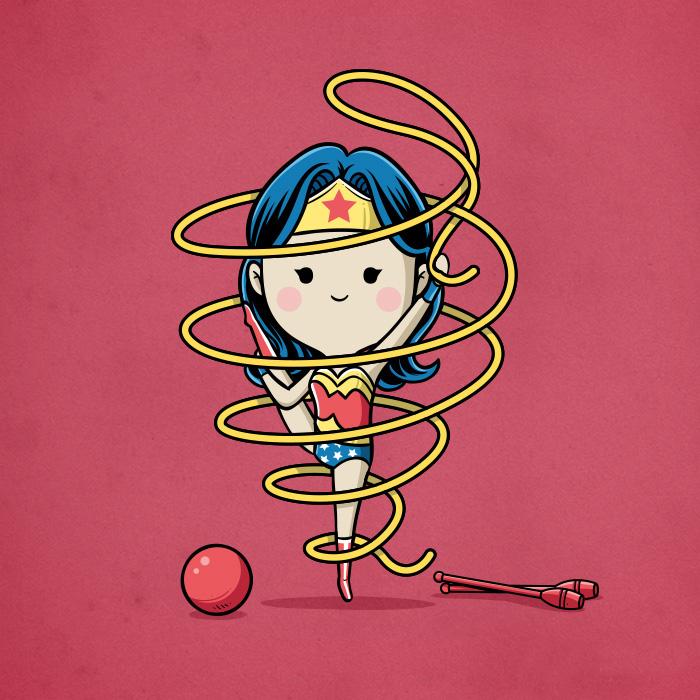 Wonder Woman-ginnastica ritmica con palla (Chow Hon Lam/Instagram)