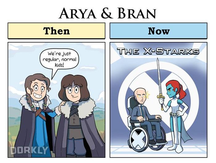 Arya & Bran (George Rottkamp/Dorkly)