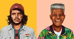 Che Guevara e Mandela (Amit Shimoni/Hipstory)