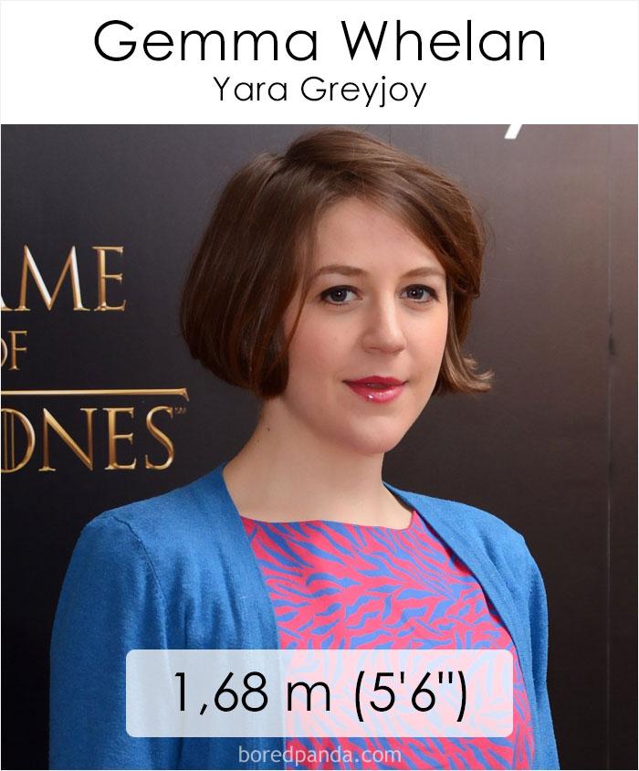 Gemma Whelan/Yara Greyjoy (boredpanda.com)