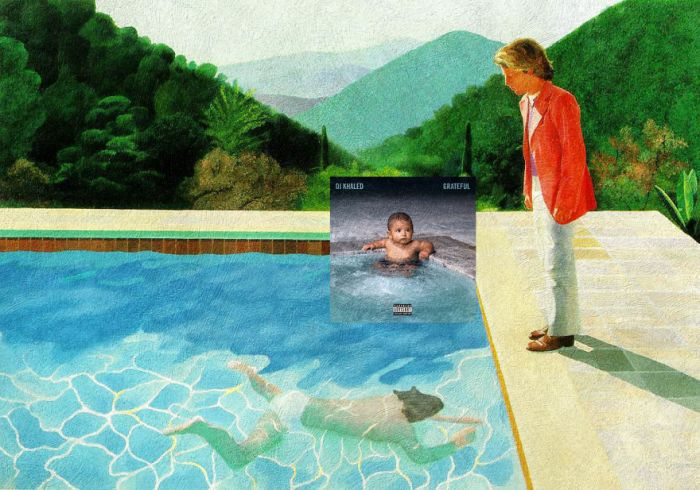 Grateful di DJ Khaled/Portrait of an artist di David Hockney (Eisen Bernardo)