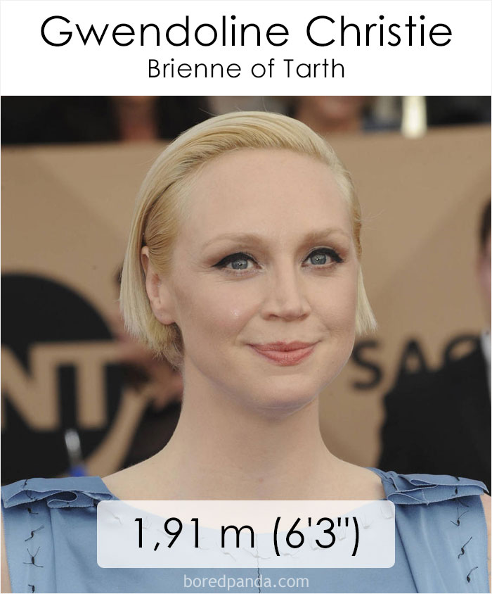 Gwendoline Christie/Brienne of Tarth (boredpanda.com)