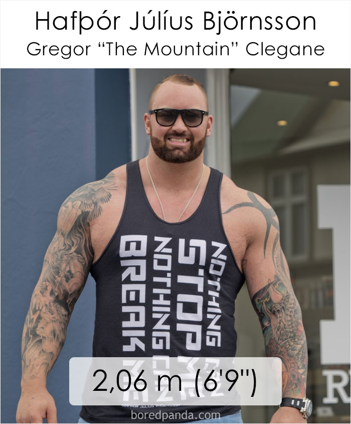 Hafbor Julius Bjornsson/Gregor The Mountain Clegane (boredpanda.com)