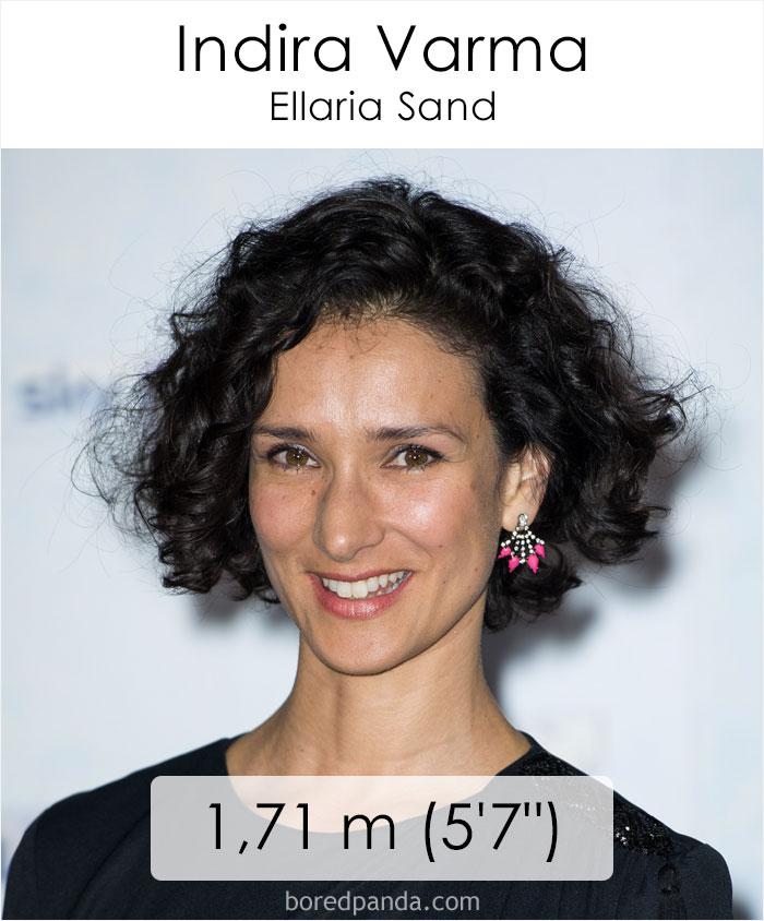 Indira Varma/Ellaria Sand (boredpanda.com)