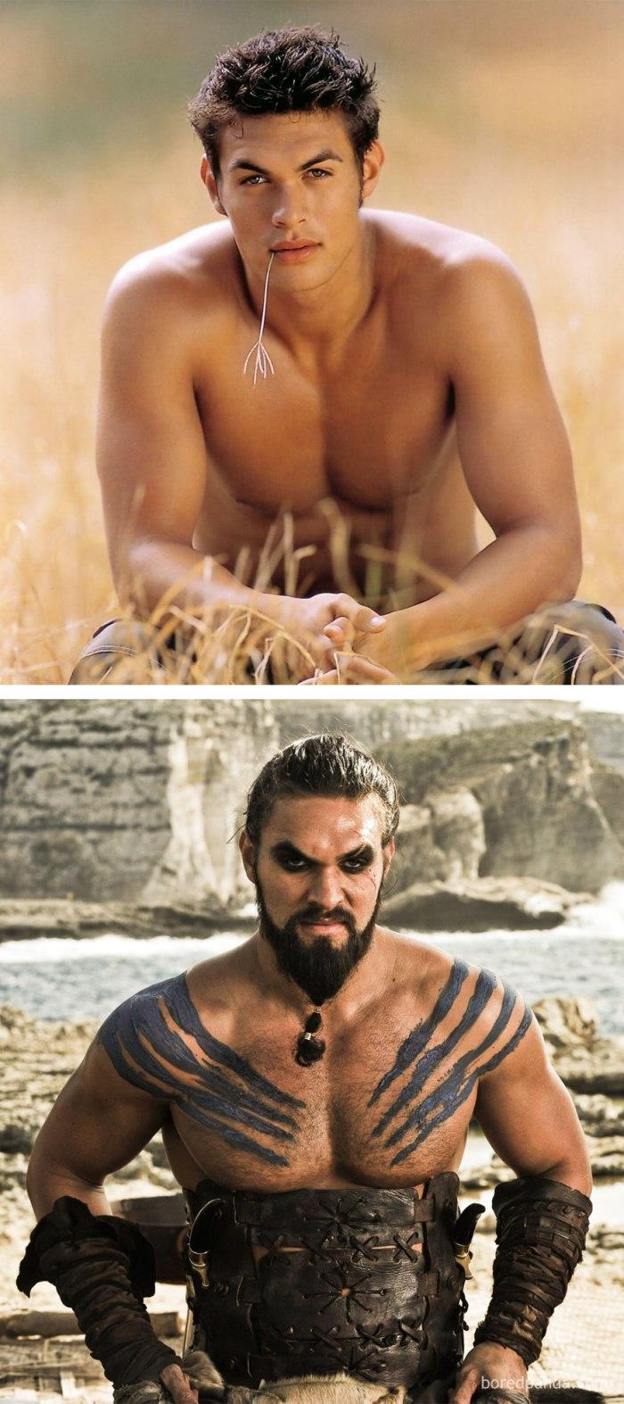 Jason Momoa as Khal Drogo (boredpanda.com)