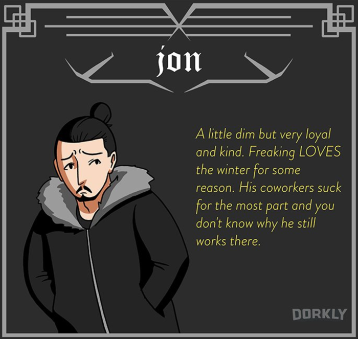 Jon Snow (Dorkly)