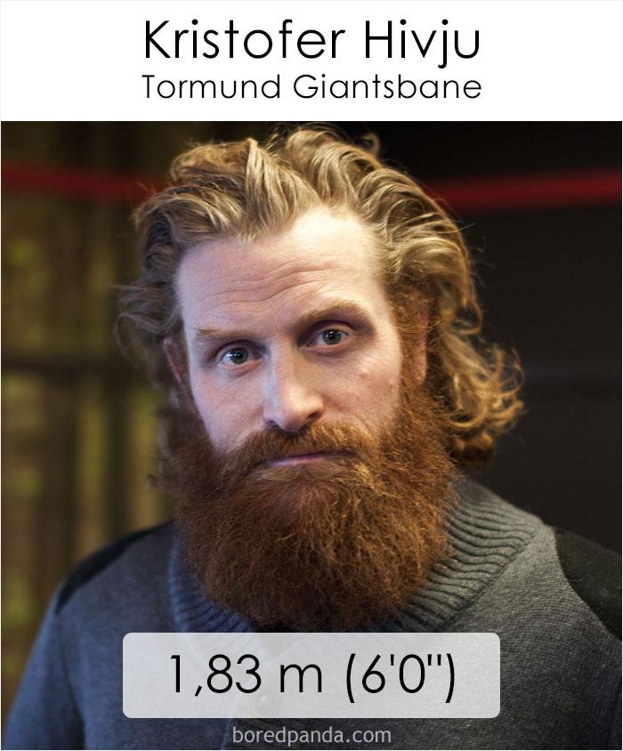 Kristofer Hivju/Tormund Giantsbane (boredpanda.com)
