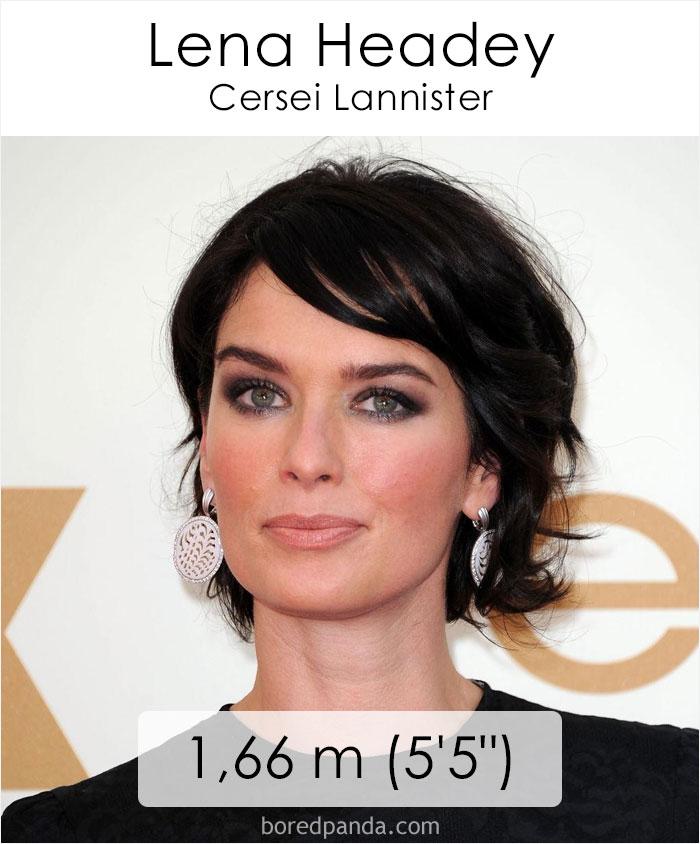 Lena Headey/Cersei Lannister (boredpanda.com)