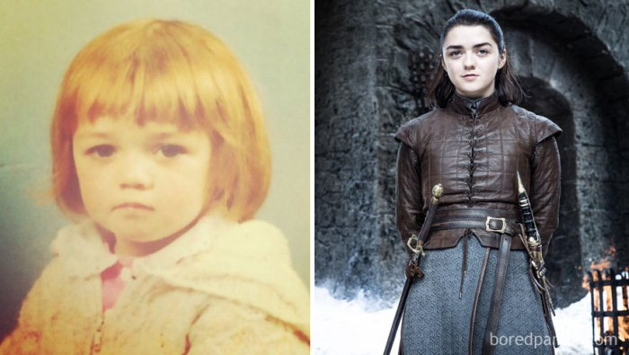 Maisie Williams ad Arya Stark (boredpanda.com)