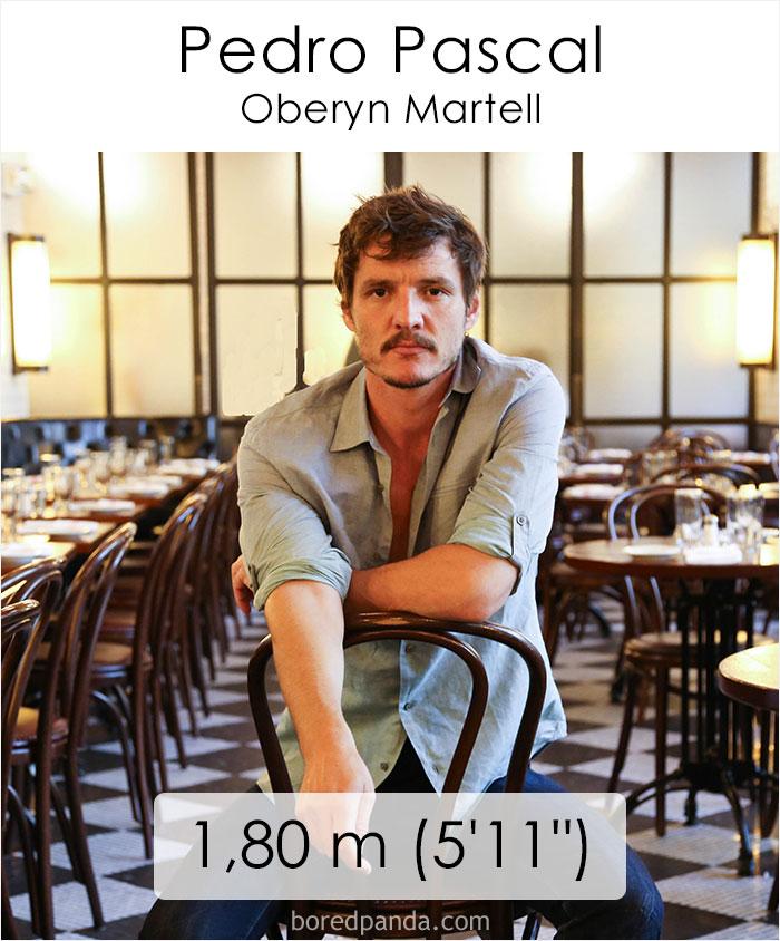 Pedro Pascal/Oberyn Martell (boredpanda.com)